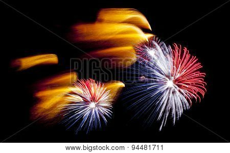 Colorful Fireworks At San Juan Night