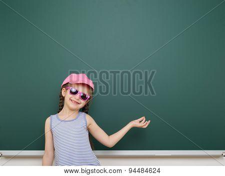 girl near the school board