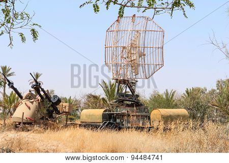 Tcm-20 Anti-aircraft Gun And Military Radar