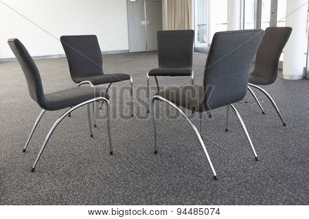 Empty Chairs Laid Out For Meeting