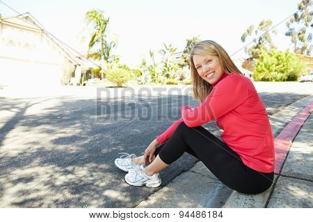 Fit, active woman outdoors