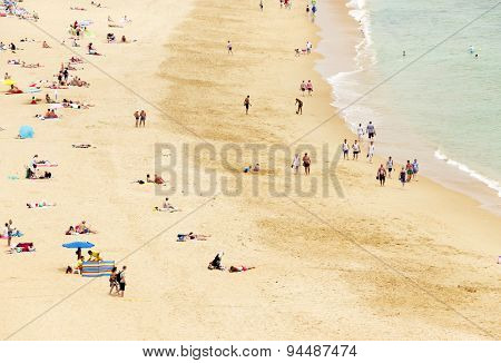 Albufeira city beach, Algarve region, south Portugal