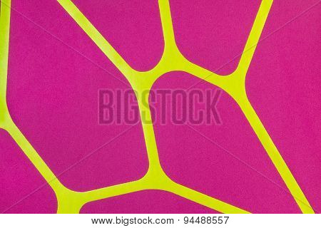 Regular Geometric Fabric Texture Yellow And Violet Background, Cloth Pattern