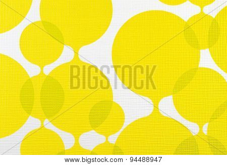 Fabric Texture Yellow And White Background, Cloth Pattern