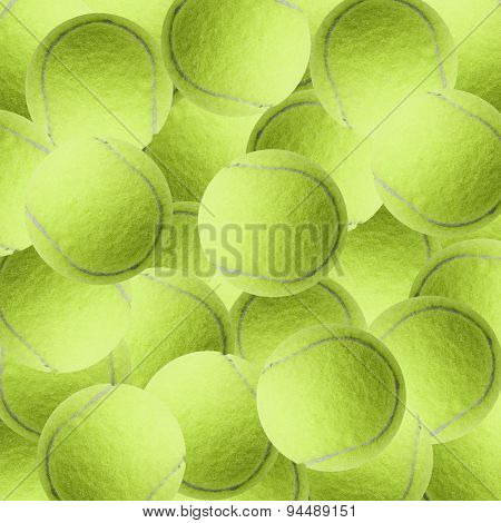 Exotic Color Tennis Ball  As Sport Background