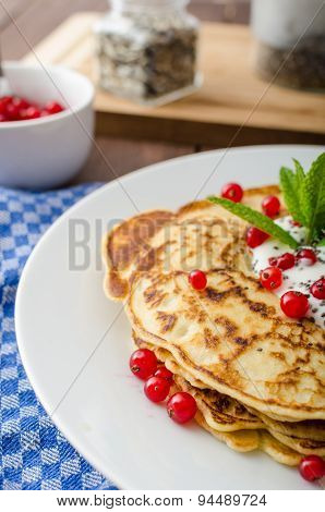 Homemade Pancakes With Fruit