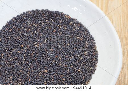 Black dry sesame seed a common ingredient in cuisine