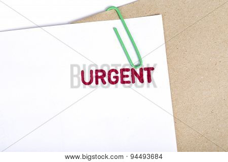 Urgent Documents