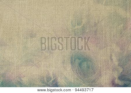 Sweet Rose flower on mulberry paper textured background