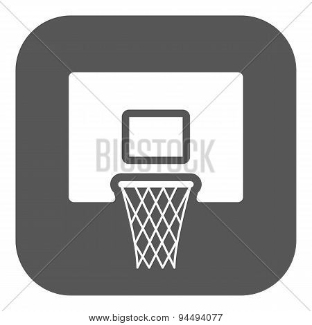 The Basketball Icon. Game Symbol. Flat