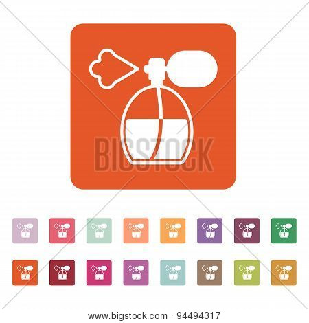 The Perfume Icon. Sprayer Symbol. Flat