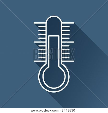 Vector thermometer icon. Eps10