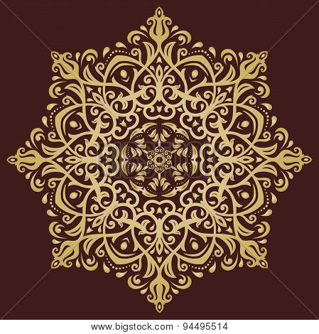 Orient Abstract  Golden Ornament