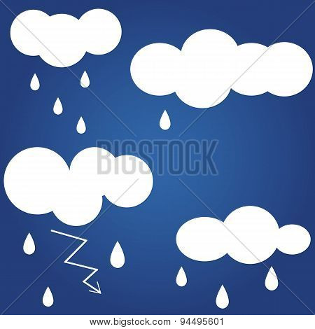 Weather icon. Flat icon isolated on a blue background for your design, vector illustration.