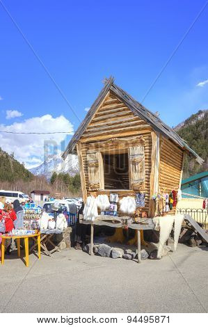 Caucasus. Little Market Is In Valley Of Narzan