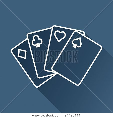 Vector game cards icon. Eps10