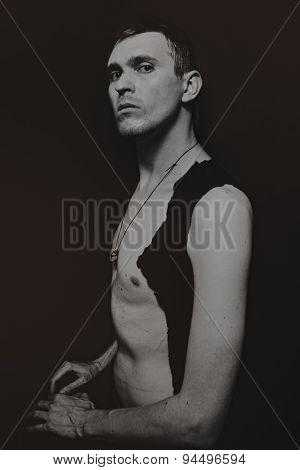 Studio Portrait Of A Young Man