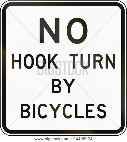 No Hook Turn By Bicycles In Australia