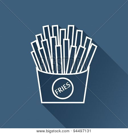 Vector fries icon. Eps10