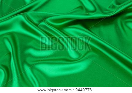 Green silk drapery