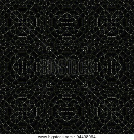 Abstract dark mosaic pattern with nine round shapes