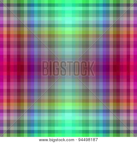 Red green checkered geometric shining design
