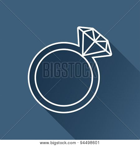 Vector wedding ring icon. Eps10