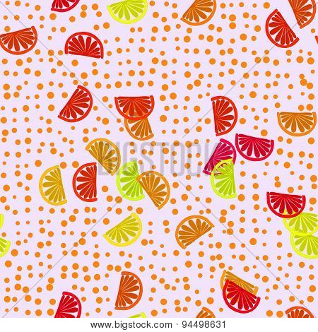 Decorative optimistic orange red yellow seamless pattern