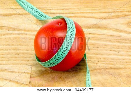 Diet Using Red Tomatoes Concept