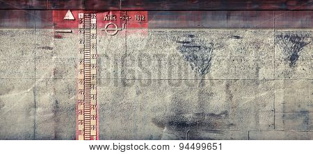 Gray Grungy Barge Hull Texture With Scale