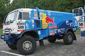 ������, ������: Moscow Russia July 11: Kamaz Master Driver Eduard Nikolaev In Moscow City Racing Circle Moscow O