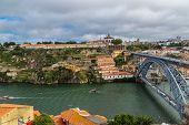 foto of dom  - Dom Luis I bridge in Porto in Portugal in a summer day - JPG
