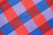 stock photo of striping  - Striped loincloth fabric background Colorful Striped loincloth fabric background - JPG