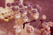 pic of cake pop  - Capture of Delicious cake pops on table - JPG