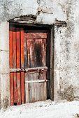 stock photo of greek-island  - Old door of Greek traditional house at Corfu island - JPG