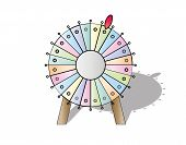 foto of color wheel  - colorful wheel of fortune on white background vector isolated - JPG
