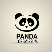 stock photo of pandas  - vector panda icon - JPG