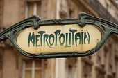 pic of art nouveau  - Art Nouveau influenced signs for the Paris M - JPG