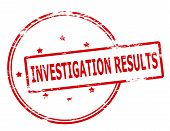 foto of investigation  - Rubber stamp with text investigation results inside vector illustration - JPG