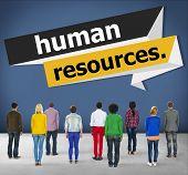 foto of recruitment  - Human Resources Employment Job Recruitment Concept - JPG