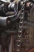 stock photo of machinery  - Close up of machinery with beautiful patina of age - JPG