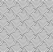 picture of striping  - Geometric background with black and white stripes - JPG