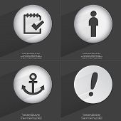 image of tasks  - Task completed Silhouette Anchor Exclamation mark icon sign - JPG