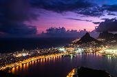 picture of ipanema  - Spectacular Sunset above Rio de Janeiro  - JPG