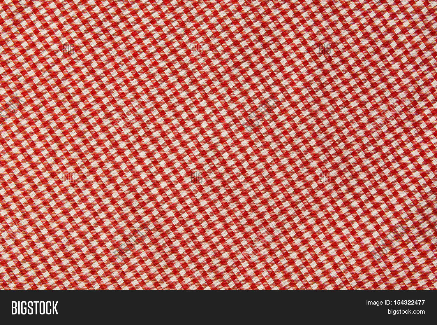 Red And White Checkered Tablecloth Texture Background