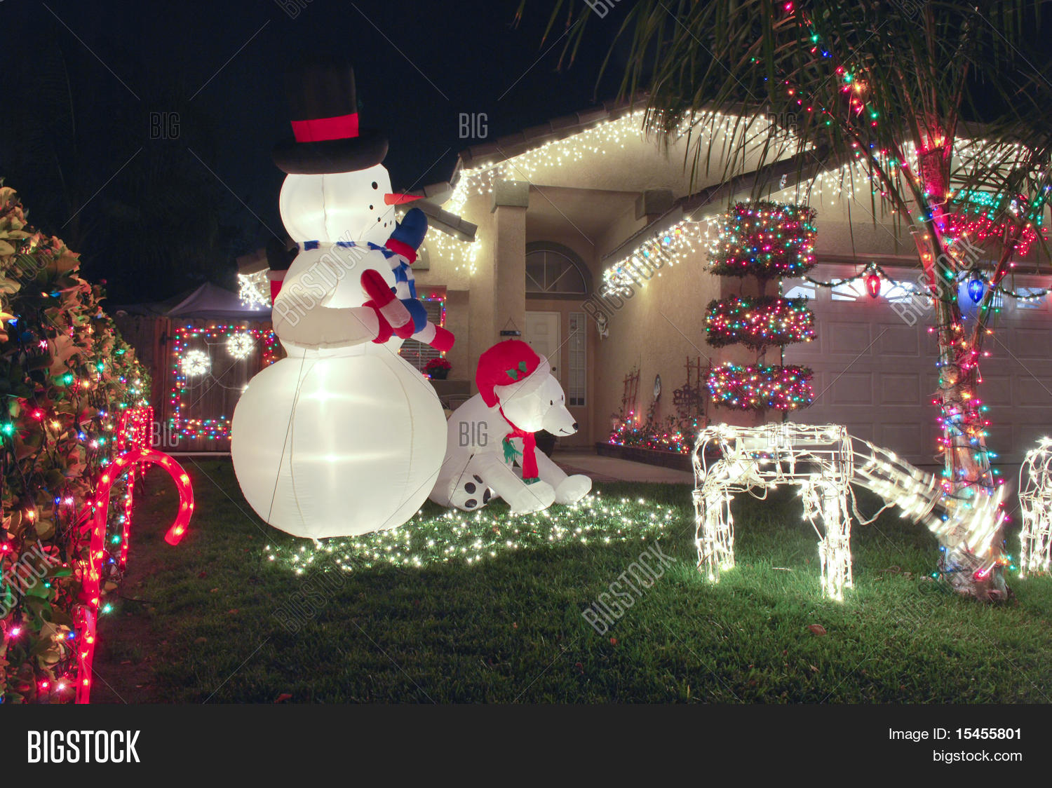 Front Yard Christmas Decorations Image Photo Bigstock