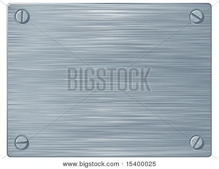 Metal plate. Vector.