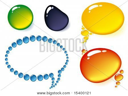 Transparent balloones. Vector.