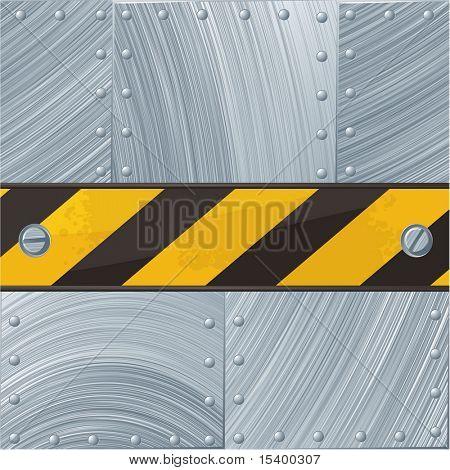 Stahl Vector Hintergrund mit Bau Band.