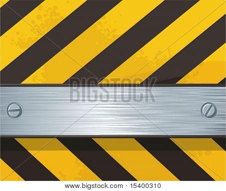Stahl flacher Lenker auf Bau Hintergrund.